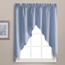 Blue Kitchen Curtains Country Blue Kitchen Curtains Wayfair