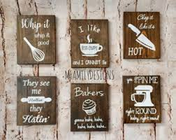 wooden signs decor kitchen sign etsy