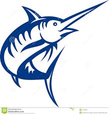 blue marlin fish jumping stock illustration illustration of