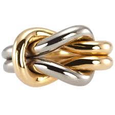 cartier two color gold knot ring gold knot ring knot rings and