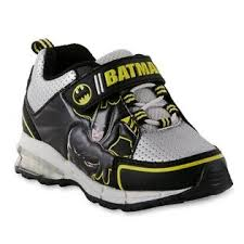 light up sneakers dc comics boys batman silver black light up sneaker