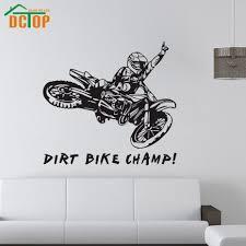 aliexpress com buy dirt bike champ wall stickers creative vinyl