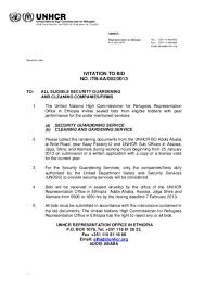 to bid document invitation to bid no itb aa 002 2013