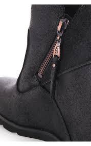 ugg womens boots black ugg womens ugg australia myrna concealed wedge boot black ugg