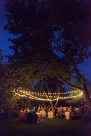 Backyard Wedding Lighting by Sarah And Zac U0027s 7 000 Backyard Wedding Receptions Wedding And