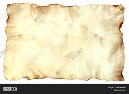 Old Treasure Map Photo Image Of An Old Paper Sheet Isolated On White Grunge Burnt