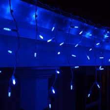 blue led lights lighting rope