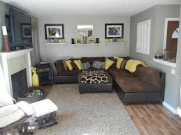 and yellow and brown living room home design ideas