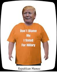 I Voted Meme - don t blame me i voted for hillary republican memes meme on me me