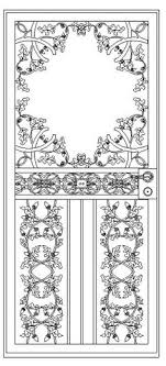 custom wrought iron door grilles designed and built by