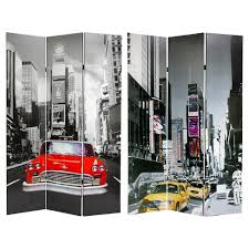 New York Room Divider 6 Ft New York City Taxi Sided Room Divider