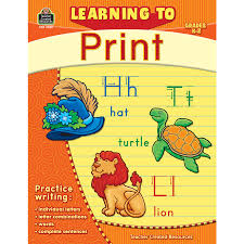 learning to print grade k 2 tcr2769 teacher created resources