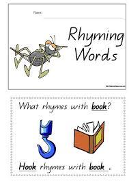 printable rhyming words printable rhyming words concept book