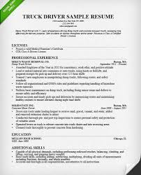 Truck Driving Resume Samples by Classy Resume For Truck Driver 1 Truck Driver Resume Sample And