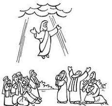 coloring page of jesus ascension 69 best wniebowstąpienie images on pinterest sunday school crafts