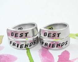 what is a friendship ring best friend rings etsy