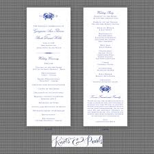 photo wedding programs crab wedding programs crab monogram wedding programs knots