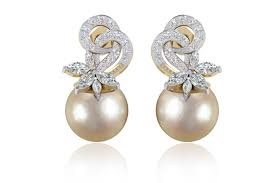 diamond earrings online buy aakansha pearl diamond earring online in india at best price