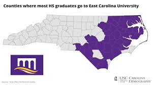 Nc Counties Map College Bound Nc Counties And Unc Attendance Carolina