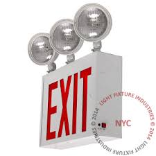 exit emergency light combo exit sign emergency light combo steel 3 heads nyc exit com