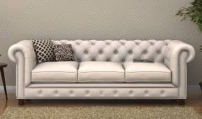 Chesterfield Sofa Fabric Buy Crispix 3 Seater Chesterfield Sofa Fabric Ivory