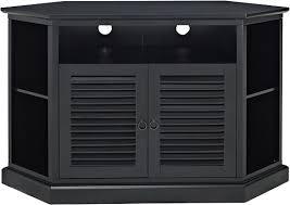 corner flat panel tv cabinet walker edison corner tv stand for flat panel tvs up to 55 black