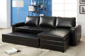 black bonded leather match sofa sectional chaise w underneath storage