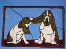 Stained Glass Window Decals Beagles Dogs Stained Glass Window Cling 10 5 X 7 Inches 8 00