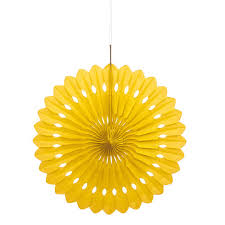 decorative fan yellow tissue paper decorative fan 16