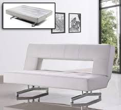 casa wilshire modern fold out leatherette sofa bed