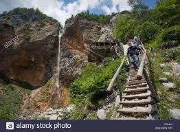 hikers descend from the