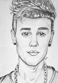 so here u0027s my drawing of justin bieber it took me a lot of effort