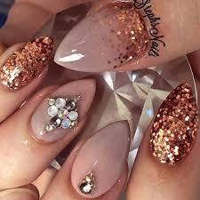 the 25 best copper nails ideas on pinterest gold manicure