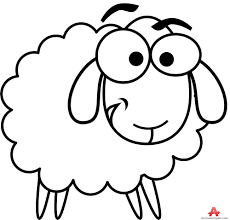 lamb clipart outline pencil and in color lamb clipart outline