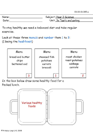 primaryleap co uk healthy menu worksheet