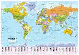 World Map Australia by Scottish World Political Wall Map Large Size Xyz Maps