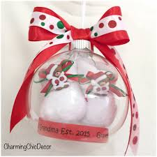 baby bootie ornament christmas pregnancy announcement ornament with floating baby