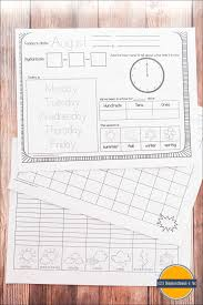free kindergarten daily calendar notebook