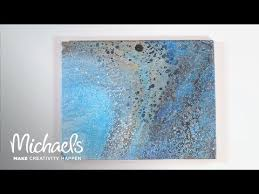 acrylic paint pouring three ways canvas