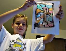 reformation day craft stained glass paintings martin luther