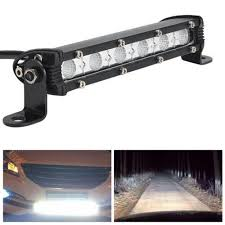 6 inch light bar 2017 new 6 inch 18w led car work light bar spotlight flood l led