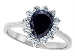 black sapphire rings images Star k pear shape black sapphire engagement ring 27398 jpg