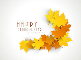 happy thanksgiving day concept with colorful autumn leaves on grey