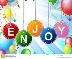 enjoy represents celebration jubilant and celebrations stock