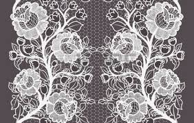 wide lace ribbon wide seamless black lace ribbon with roses royalty free cliparts
