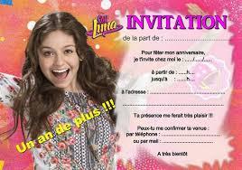 5 ou 12 cartes invitation anniversaire soy luna ref 361 2 a