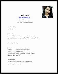 Sample Format Of Resume In The Philippines by Example Of Student Resume In Philippines Augustais