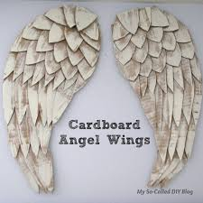 Angel Wings Home Decor by My So Called Diy Blog Angel Wings From Cardboard