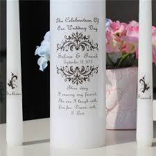 personalized bridal shower gifts personalized wedding unity candle set vinyl decal vintage church