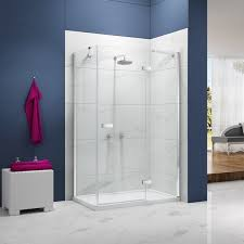 merlyn ionic essence hinge shower door with inline panel and